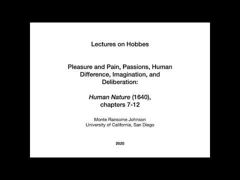 Hobbes on Human Nature 4 of 7