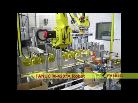Robotic Packaging System Packs Cooking Oil Jugs - StrongPoint Automation