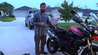 6. 2012 Triumph Tiger 800XC Yoshimura  RS4 VS Stock