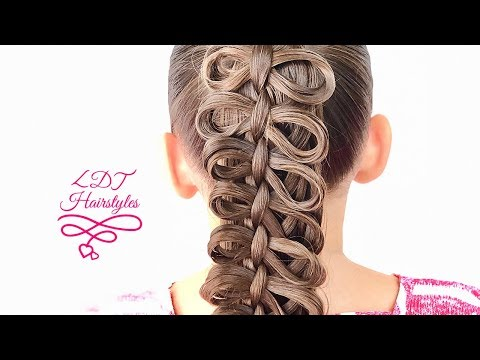 🎀Bow Braid on a 4 Strand Box Braid🎀 (видео)