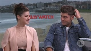Zac Efron Can't Stop Blushing Around Alexandra Daddario (Flirty Interview) Video