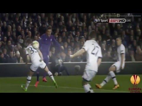 Tottenham Hotspur vs Fiorentina 3 - 0  2016 ~All Goals & Highlights (Europa league 25/2/2016)