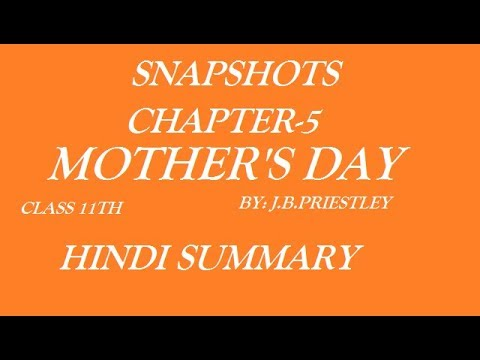 Mother's day  Class 11th  IN  hindi summary