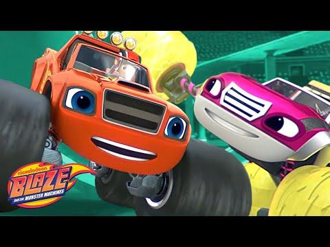 Raceday Rescue w/ Blaze & Watts! | Blaze and the Monster Machines