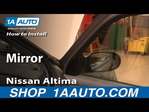 How To Install Replace Side Rear View Mirror Nissan Altima 00-01 1AAuto.com