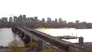 Sunrise Time-Lapse Over Longfellow Bridge - Nov 05, 2013