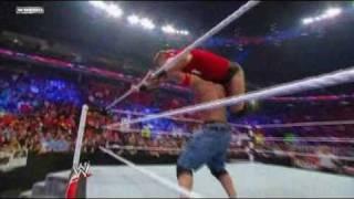 WWE Raw 4/25/11 - John Cena, Christian and Mark Henry fight The Miz, Alberto Del Rio and Mark Henry