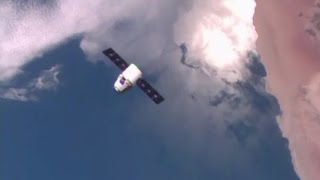 After a two day journey from the launch, the CRS-8 Dragon spacecraft arrived at the International Space Station on 10 April 2016. Astronaut Tim Peake of ESA ...