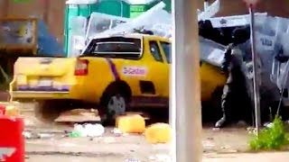 Truck Charges Through Riot Police (GRAPHIC VIDEO)