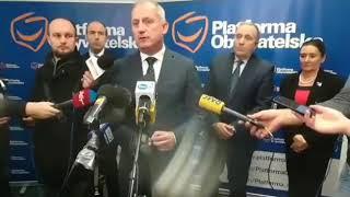 Ziobro stwierdził, że Platforma sama jest sobie winna, że faszyści wychodzą i stawiają szubienice z twarzami europosłów.