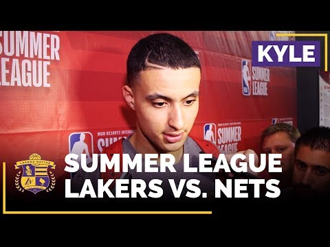 Video: Lakers Summer League: Kyle Kuzma Drops 26 Points In Win Over Nets