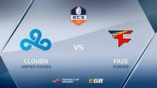 FaZe vs Cloud9, mirage, ECS Season 2 Finals