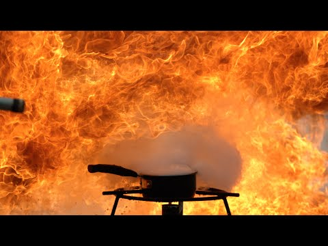 Oil Fire Explosion In Super Slow Motion