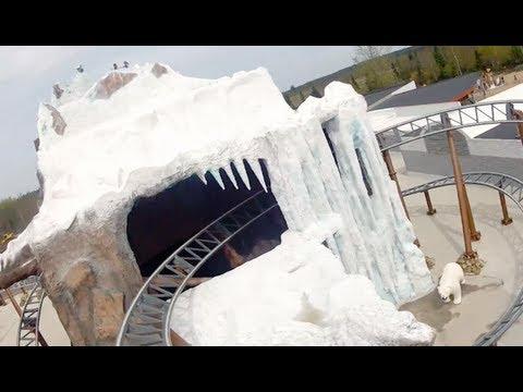 Polar X-plorer POV Front Seat Roller Coaster Onride Legoland Billund Denmark 2012 HD видео