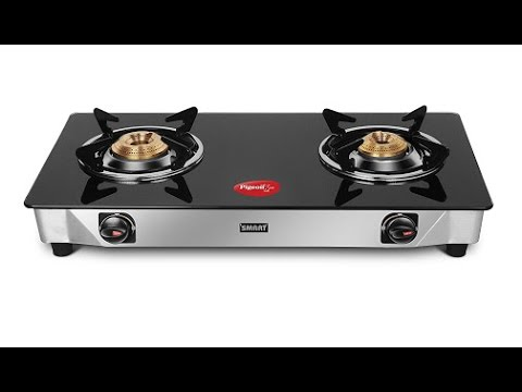 Pigeon Blackline Smart Gas Stove, 2 Burner unboxing