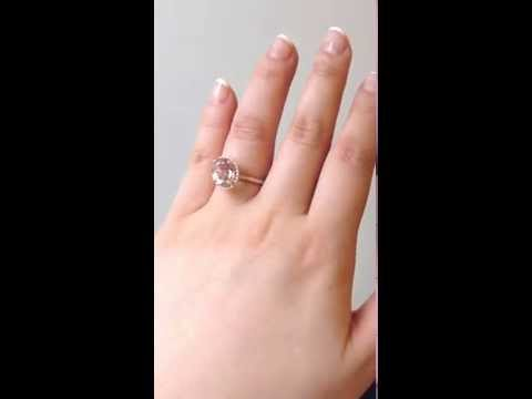 Jessica 10x8mm 14kt Rose Gold Oval Morganite Engagement Ring