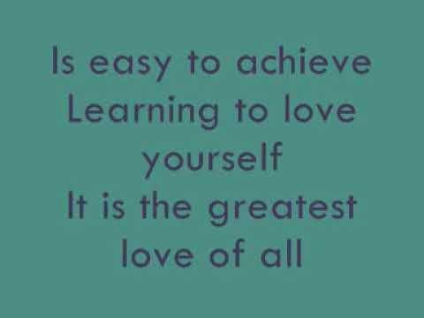 Whitney Houston - Greatest Love Of All [Lyrics]