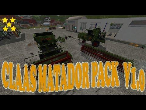 Claas Matador Pack FS2017 v1.0