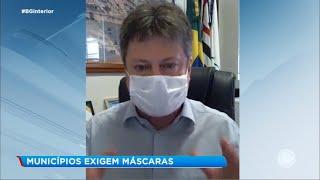 Municípios do interior de SP exigem uso de máscaras