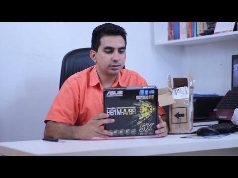 Placa Mãe ASUS H81M-A/BR   Unboxing e Review
