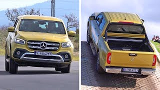 2018 Mercedes-Benz X-Class Test driveDifferent lifestyles and work environments: The basic PURE variant for classic robust use, PROGRESSIVE for higher requirements in terms of quality feel and comfort, and POWER as the high-end variant for urban lifestyles.At market launch you can choose from the common rail diesel X 220 d (163 hp) and X 250 d (190 hp) as well as a petrol engine (165 hp). A top-of-the-range V6 diesel will be released mid-2018.The engageable 4MATIC all-wheel drive with low-range gearing and optional differential lock on the rear axle masters any terrain. From the middle of next year a permanent all-wheel drive will complement the portfolio. It will offer maximum performance and traction even while driving on-road with full speed.The X-Class is available in Germany from 37,294 Euro (incl. 19% VAT). Market launch begins in November 2017 in Europe. South Africa and Australia will follow at the beginning of 2018, as well as Argentina and Brazil at the beginning of 2019.The Mercedes-Benz X-Class is being manufactured in a production cooperation with the Renault-NissanAlliance. Production for the markets in Europe, Australia and South Africa will start in 2017 at the Nissan plant in Barcelona, Spain. The X-Class for the Latin American market will roll off the assembly lines at the Renault plant in Cordoba, Argentina, starting from 2019.If you love cars you should subscribe now to YouCar the world famous automotive channel: https://goo.gl/5i54Vg