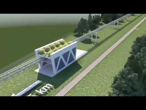 Сompletion of concrete work on SkyWay urban passenger line