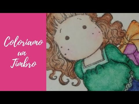 Tutorial: Colorare un timbro con i colori acquerellabili (scrapbooking tutorial) [sub-eng]