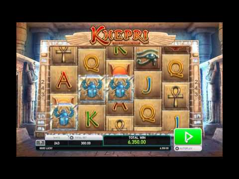 Khepri slot by Leander Games - Gameplay