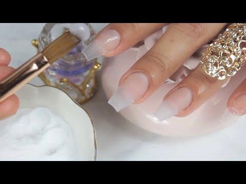 Diseños de uñas - COMO APLICAR el acrílico de una mejor manera en tus uñas diseño para 15 años