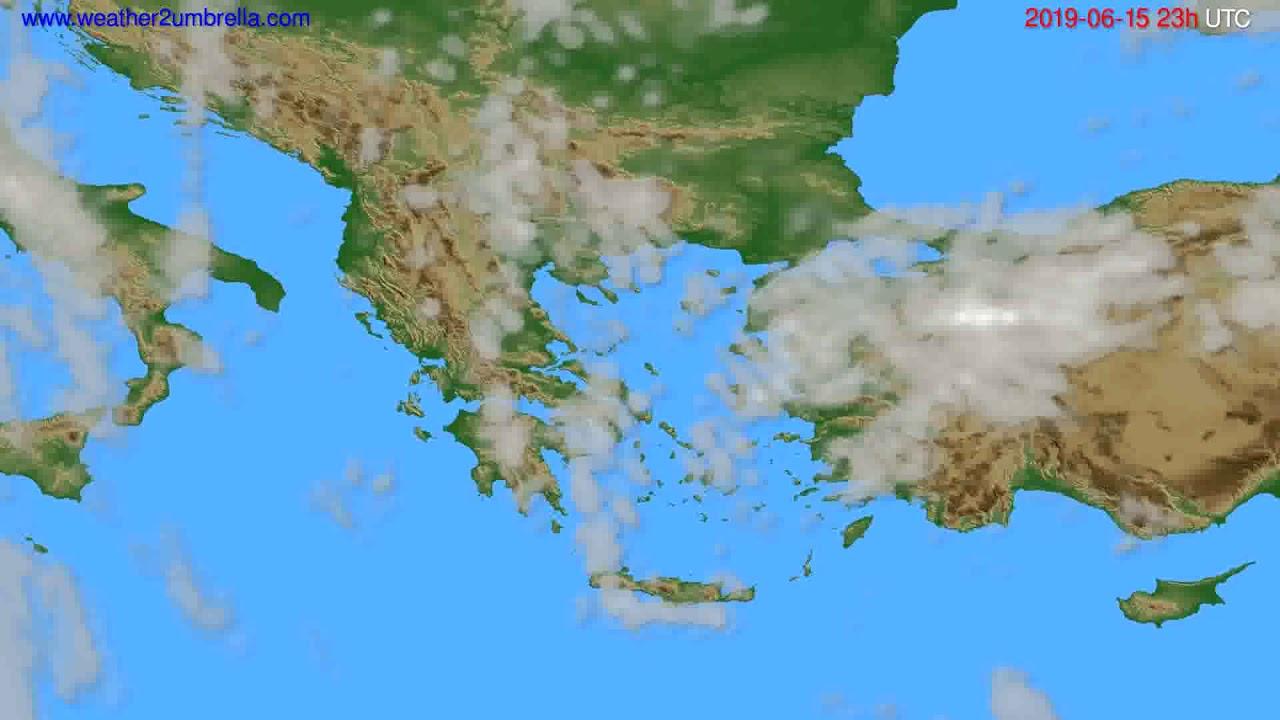 Cloud forecast Greece // modelrun: 12h UTC 2019-06-12