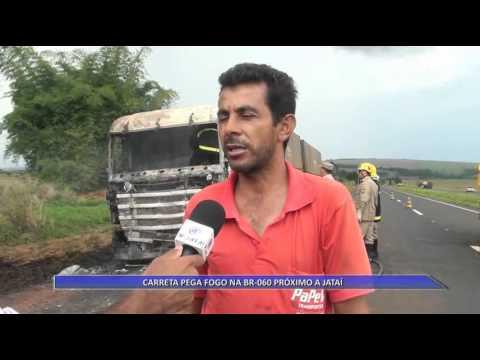 JATAÍ | Carreta é incendiada na BR-060
