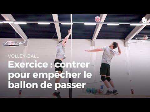 Exercice de contre : empêcher le ballon de passer | Volley-Ball