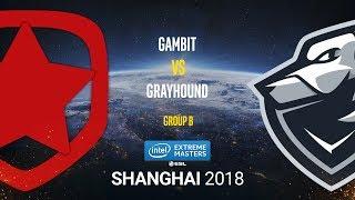 Gambit vs Grayhound - IEM Shanghai 2018 - map2 - de_overpass [SSW, GodMint]
