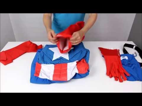 Unboxing - Costume Captain America musclé haut de gamme