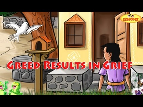 Greed Results In Grief || Pigeon and Crow || English Moral Story For Kids