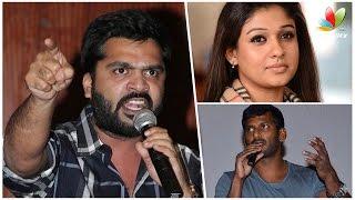 Nayanthara is Behind the Rivalry Between Vishal and Simbu | Nadigar Sangam election Kollywood News 09/10/2015 Tamil Cinema Online