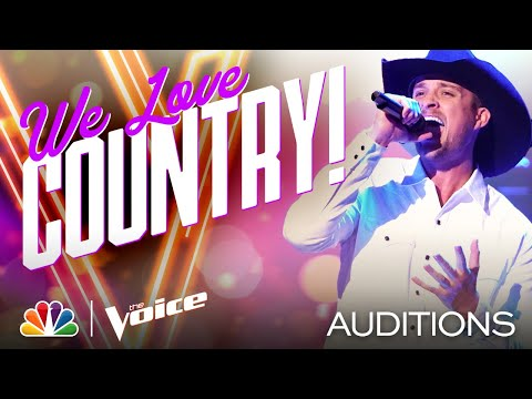 "Tanner Gomes Has Country Charm on Dustin Lynch's ""Cowboys and Angels"" - Voice Blind Auditions 2020"