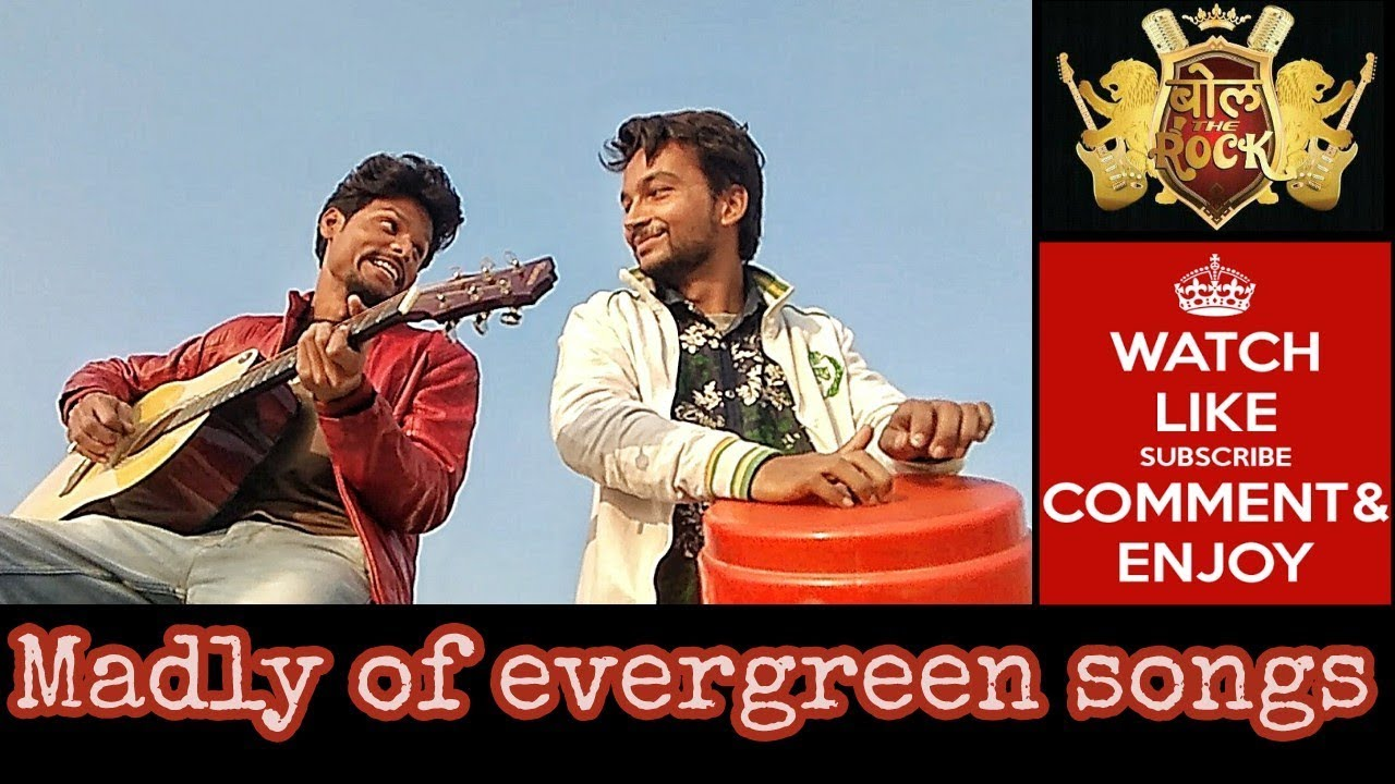 5 Evergreen old song madly || bollywood masti with guitar ||