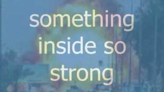 Video Something Inside So Strong With Lyrics MP3, 3GP, MP4, WEBM, AVI, FLV Oktober 2018
