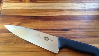 "Product Review of Victorinox 8"" Chef's Knife and a Word of Caution!"