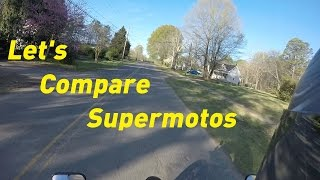 8. WR450F Vs  DRZ400 Vs  DR650 Supermoto Comparison