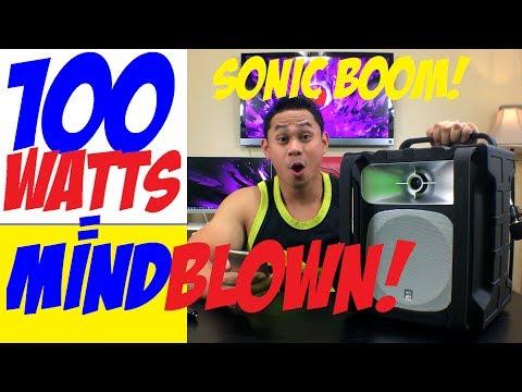 SONIC BOOM 100 watt ALTEC LANSING OUTDOOR SPEAKER! IMT802 UNBOXING/SOUNDTEST