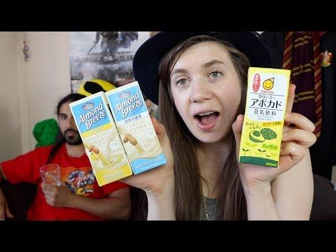 מה שותים ביפן- חלב סויה בטעם אבוקדו