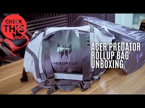 Check This Out: Predator Gaming Rolltop Backpack Unboxing
