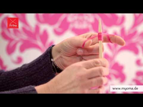 Stricken lernen mit den Omas – DIY Beanie Mütze für Anfänger 1/7: Maschen anschlagen