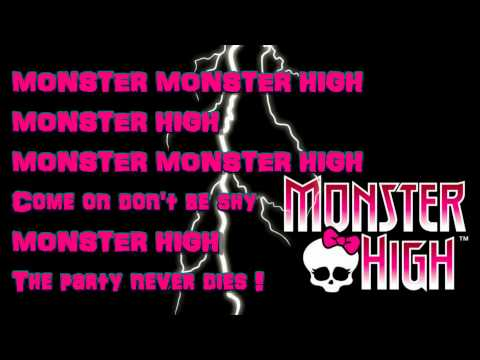 Monster High-Fright Song-lyrics