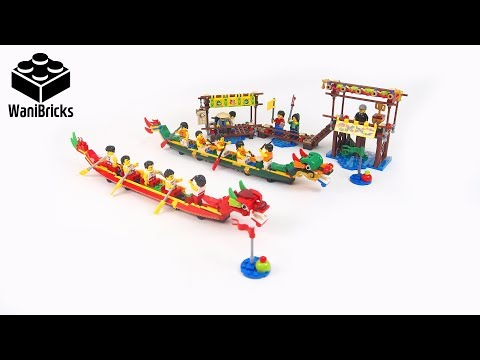 LEGO 80103 Dragon Boat Race - Lego Speed Build