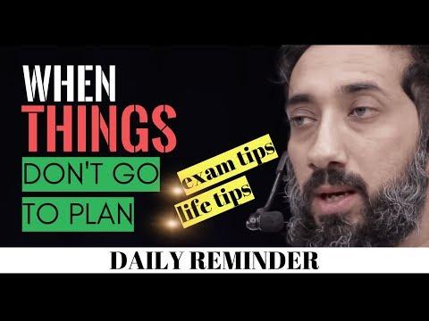 When things don't go to plan Islam I Failure in exam Islam I Exam tips Islamic speech I Ramadan 2020