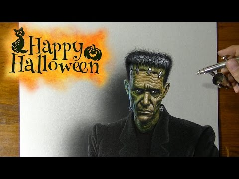 Drawing Frankenstein's Monster - Halloween 2016 Costume and Makeup Ideas