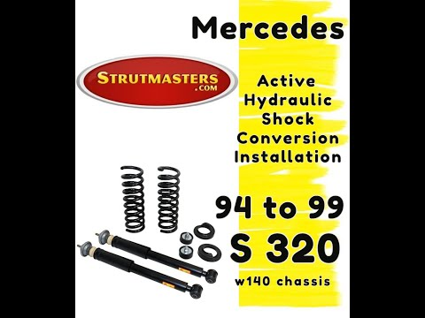1994-1999 Mercedes S 320 With A Strutmasters Air Suspension Conversion (Rear Install Video)